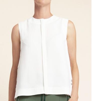 HIGH blusa sin mangas espalda evasé