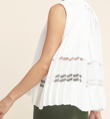 HIGH blusa sin mangas espalda evasé - 2