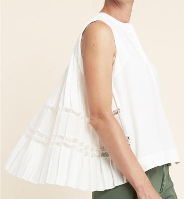HIGH blusa sin mangas espalda evasé - 3