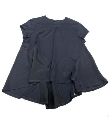 HIGH camiseta evasé contraste tejidos - 1