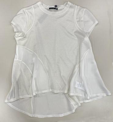 HIGH camiseta evasé contraste tejidos - 3