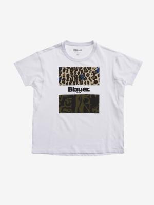 BLAUER Camiseta manga corta detalle animalprint