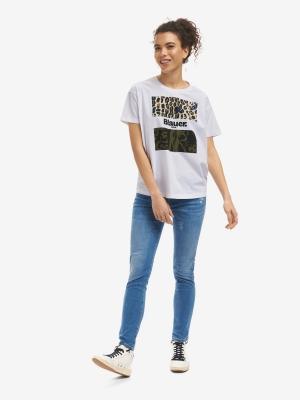 BLAUER Camiseta manga corta detalle animalprint - 3