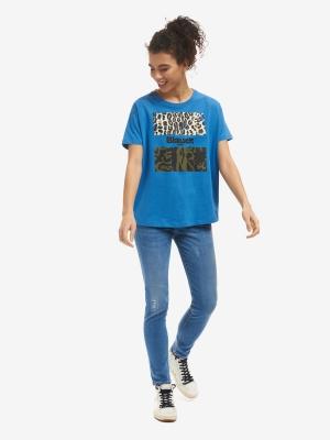 BLAUER Camiseta manga corta detalle animalprint - 4