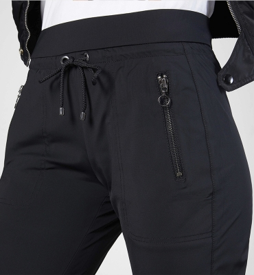 MAC Pantalón elástico negro - 3