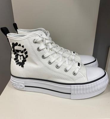 KARL LAGERFELD Sneakers blancos loneta botin corto