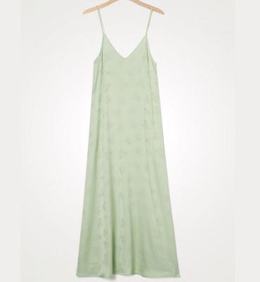 AMERICAN VINTAGE Vestido lencero largo detalle floral - 2
