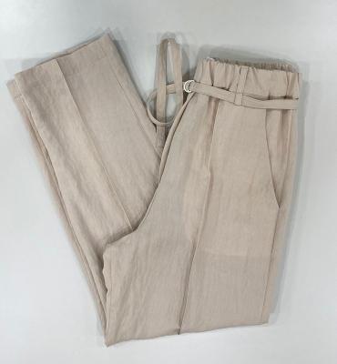 ALYSI Pantalón ligero color nude - 2