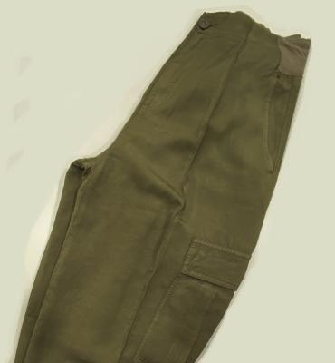 EUROPEAN CULTURE Pantalón Verde kaki con bolsillos - 1
