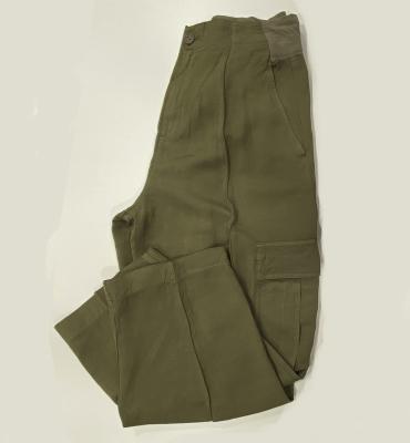 EUROPEAN CULTURE Pantalón Verde kaki con bolsillos - 2
