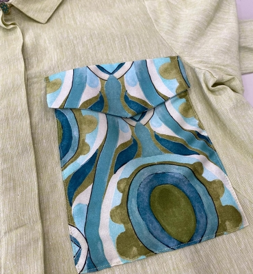 MALÌPARMI Camisa lino con bolsillo estampado - 2