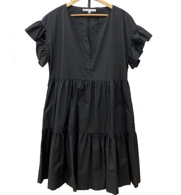 ALBA CONDE vestido ancho negro
