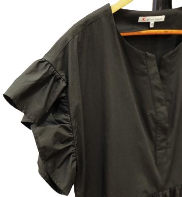 ALBA CONDE vestido ancho negro - 2