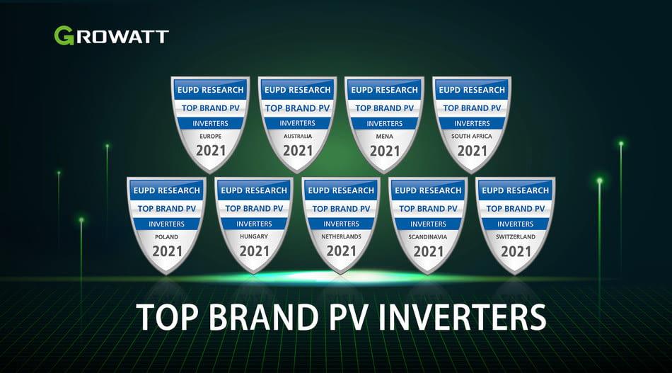 Growatt recibe el premio a la mejor marca de inversores fotovoltaicos en mercados internacionales