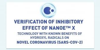 Certificado Efecto Inhibidor COVID-19 (SARS-COV-2) con los equipos Panasonic Etherea NANOE X