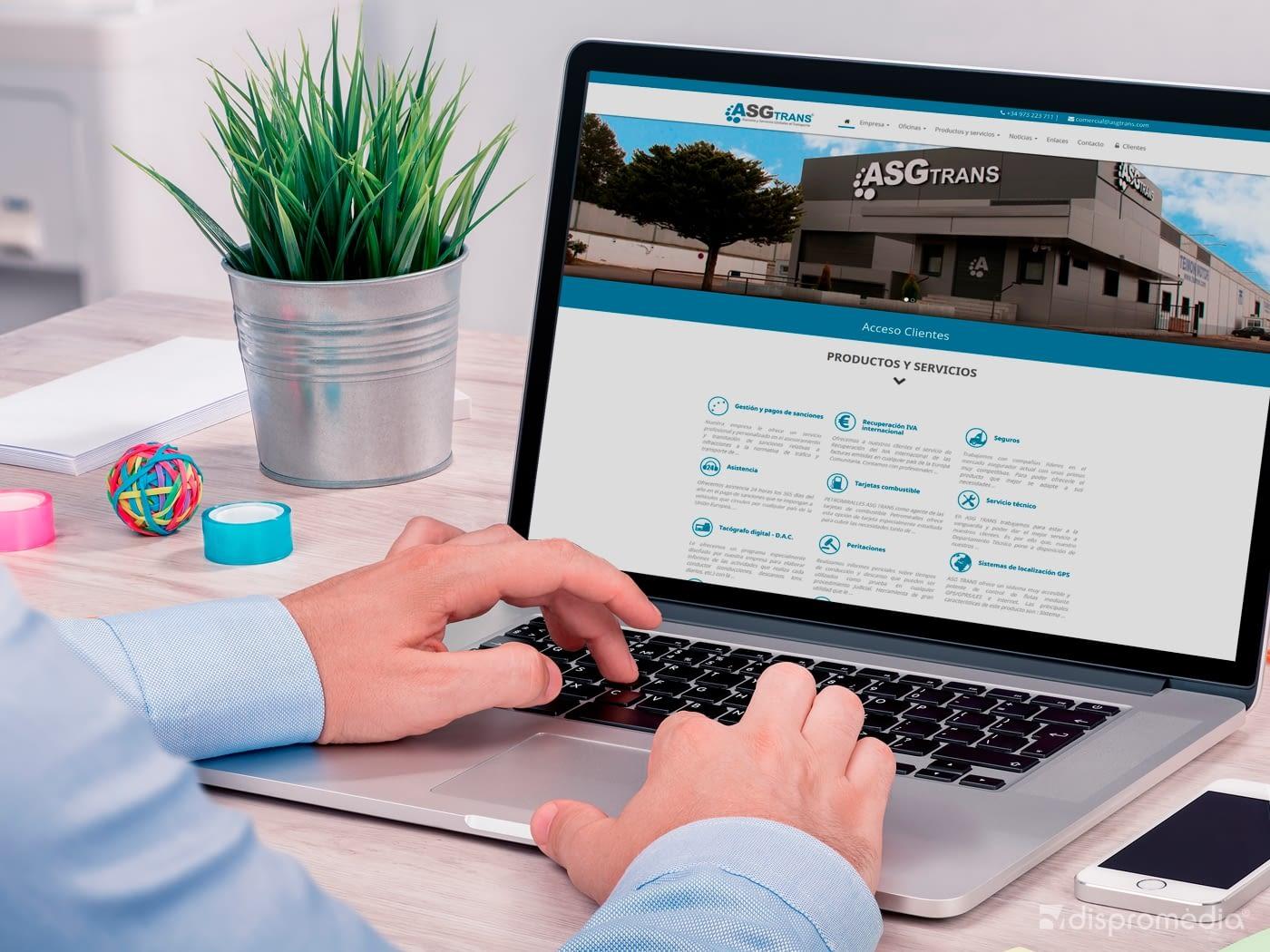 Nou Web d' ASG Trans