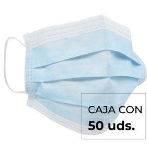 Mascarilla Quirúrgica 3 capas 50 mascarillas -