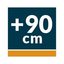 Campanas Telescópicas Extraíbles 90 cm