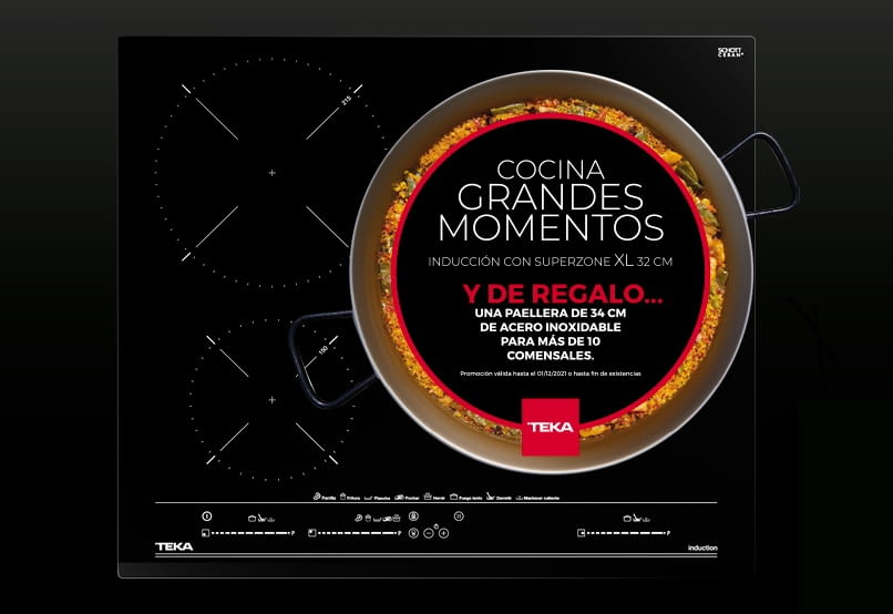 Promoción Teka Paellera 34cm de Regalo   Calidad & Acero inoxidable