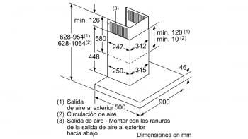BALAY 3BC998HGC CAMPANA CRISTAL GRIS ANTRACITA 90CM 843M3/H A+ - 7