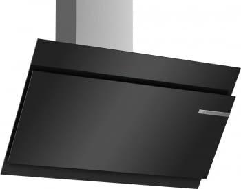 Campana decorativa de pared Bosch DWK97JM60 en Cristal Negro de 90 cm a 722 m³/h | Motor EcoSilence Clase A+ | Serie 6