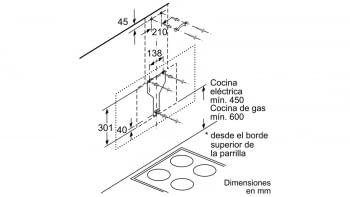 Campana decorativa de pared Bosch DWK97JM60 en Cristal Negro de 90 cm a 722 m³/h | Motor EcoSilence Clase A+ | Serie 6/ STOCK - 11
