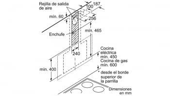 Campana decorativa de pared Bosch DWK97JM60 en Cristal Negro de 90 cm a 722 m³/h | Motor EcoSilence Clase A+ | Serie 6 - 12