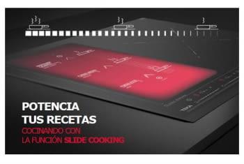 Placa Dominó de Inducción Teka IZS 34600 de 45 cm con SlideCooking, 4 zonas de induccion (2 + Slide Flex + Flex combinada)