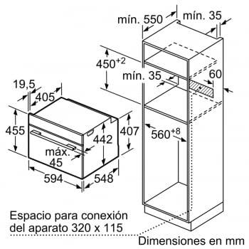 BOSCH CSG636BS3 Horno Compacto 45cm Inox Función Vapor de Gran Capacidad Interior | A+ - 7