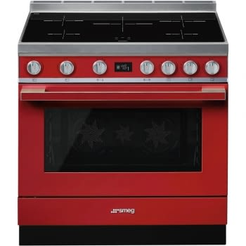Smeg CPF9IPR Cocina Portofino Color Rojo 90x60cm Horno Pirolítico XXL y 5 Zonas de Inducción