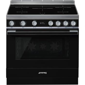 Smeg CPF9IPBL Cocina Portofino Color Negro 90x60cm Horno Pirolítico XXL y 5 Zonas de Inducción