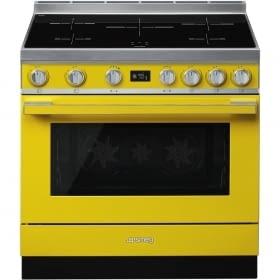 Smeg CPF9IPYW Cocina Portofino Amarilla 90x60cm Horno Pirolítico XXL y 5 Zonas de Inducción