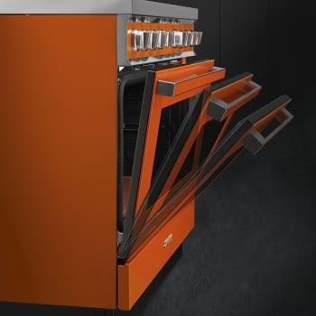 Smeg CPF9IPX Cocina Portofino Inox 90x60cm Horno Pirolítico XXL y 5 Zonas de Inducción - 5