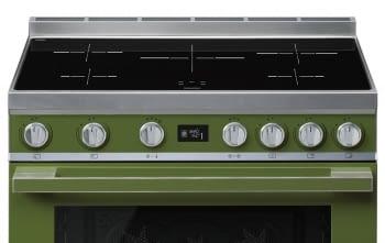 Smeg CPF9IPOG Cocina Portofino Color Verde 90x60cm Horno Pirolítico XXL y 5 Zonas de Inducción