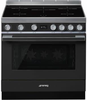 Smeg CPF9IPAN Cocina Portofino Color Antracita 90x60cm Horno Pirolítico XXL y 5 Zonas de Inducción - 3