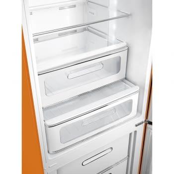 Combi Smeg FAB32LOR3 Naranja No Frost Estética Retro Años 50 A+++ Iluminación Led | Bisagra Izquierda | ¡Envío Gratis! - 3