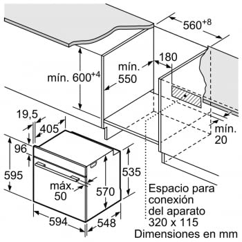 Horno Bosch HBG5780S0 Pirolítico | Inox Antihuellas | 30 Recetas | Calentamiento 3D Profesional | Display LCD - 5