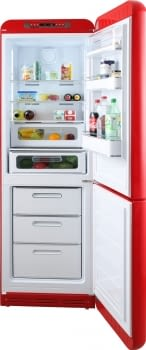 Frigorífico Combi Retro Rojo Smeg FAB32RRD5 | No Frost | Retro Años 50 | Clase D | Iluminación Led | Bisagra Derecha | Envío + Instalación + Retiro Gratis - 2