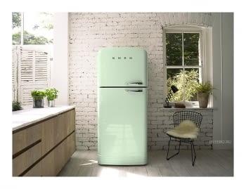 SMEG FAB50LPG Frigorífico 2P Color Verde Agua No Frost Años 50 Bisagra Izquierda A++ ¡Envío Gratis! - 4