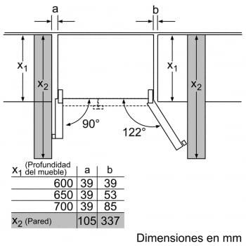 Side by Side Siemens KA92DHXFP Frigorífico Americano | Dispensador puerta | Promocionado | Envío + Instalación + Retirada Gratis - 3