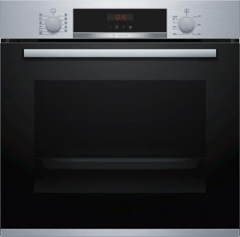 Bosch Horno HBA5740S0 Pirolítico Inoxidable de 60 cm | Recetas pre-programadas Gourmet | Calentamiento 3D Profesional | Clase A | Serie 4