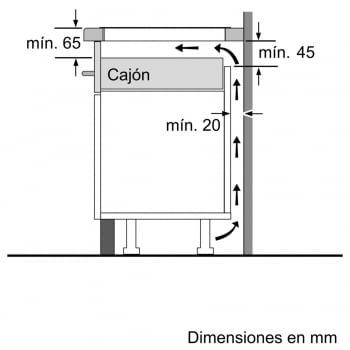 Inducción Bosch PUC631BB2E Encimera de 60cm con 3 Zonas - 5