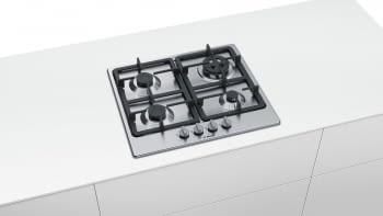 Placa de Gas Natural Bosch PGH6B5B90 Inoxidable de 60 cm con 4 Quemadores de Gas | Serie 4/STOCK - 3