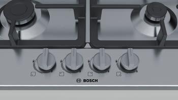 Placa de Gas Natural Bosch PGH6B5B90 Inoxidable de 60 cm con 4 Quemadores de Gas | Serie 4/STOCK - 4
