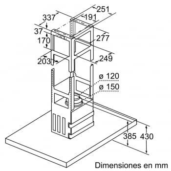 Bosch DIB98JQ50 Campana techo Isla A+ | Acero Inoxidable | 90cm Ancho | Promocionada - 3