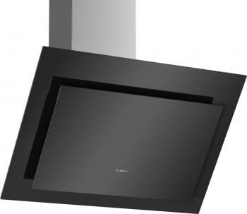 Campana decorativa de pared Bosch DWK87CM60 en Cristal Negro de 80 cm a 700 m³/h | Clase B | Serie 4