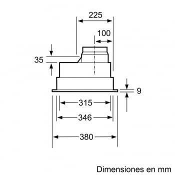 Grupo Filtrante Bosch DHL755BL Plata Metalizado, de 75 cm a 638 m³/h | Clase C | Serie 4 | STOCK - 3