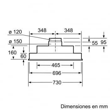 Grupo Filtrante Bosch DHL755BL Plata Metalizado, de 75 cm a 638 m³/h | Clase C | Serie 4 | STOCK - 4