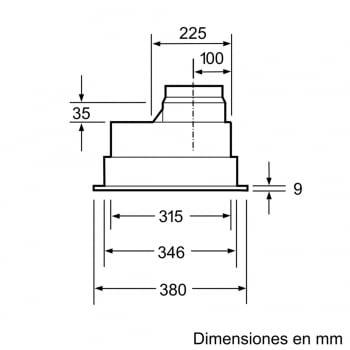 Grupo Filtrante Bosch DHL555BL en Plata Metalizado, de 53 cm a 618 m³/h | Clase C | Serie 4 - 4