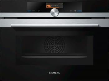 Horno Microondas Compacto Siemens CM676G0S6 Pirolítico Inoxidable de 45 cm | varioSpeed | WiFi Home Connect | iQ700